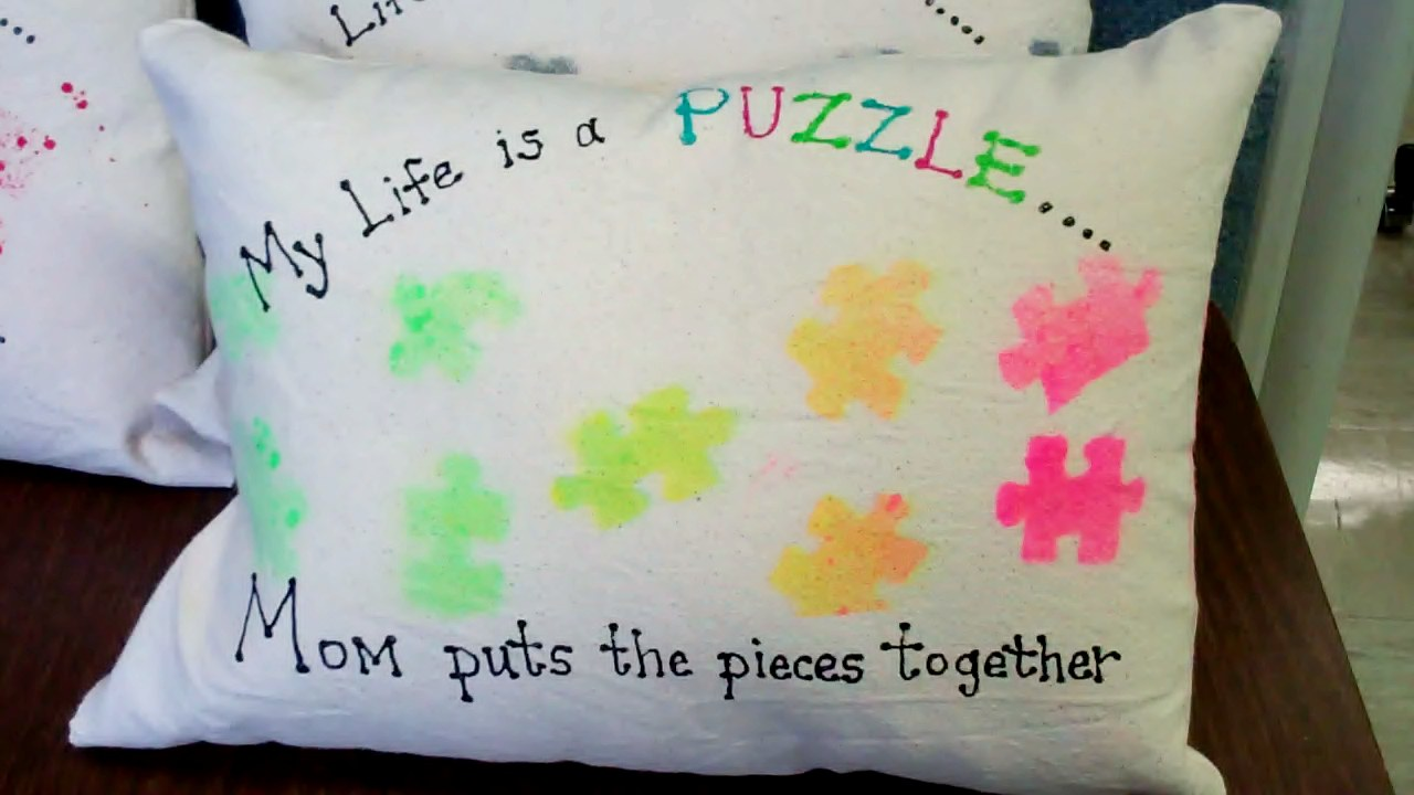 Autism Classroom make pillows for Mother\'s Day | move learn and ...